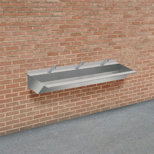 H&L Outdoor 1800mm Stainless Steel Wash Trough with No-Touch Taps